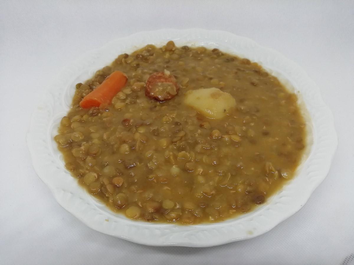 Lentilles au chorizo espagnol