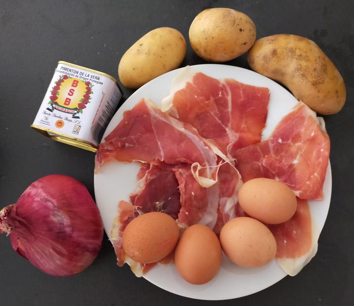 ingredients huevos rotos