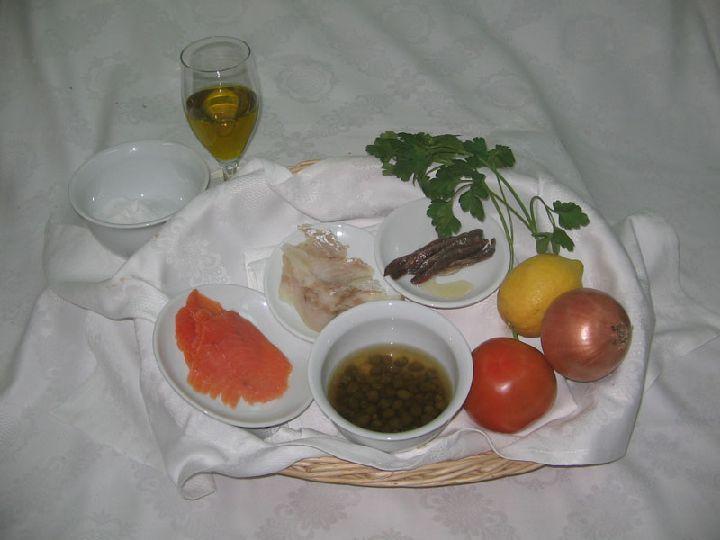 ingrédients salade poisson fumé espagnole