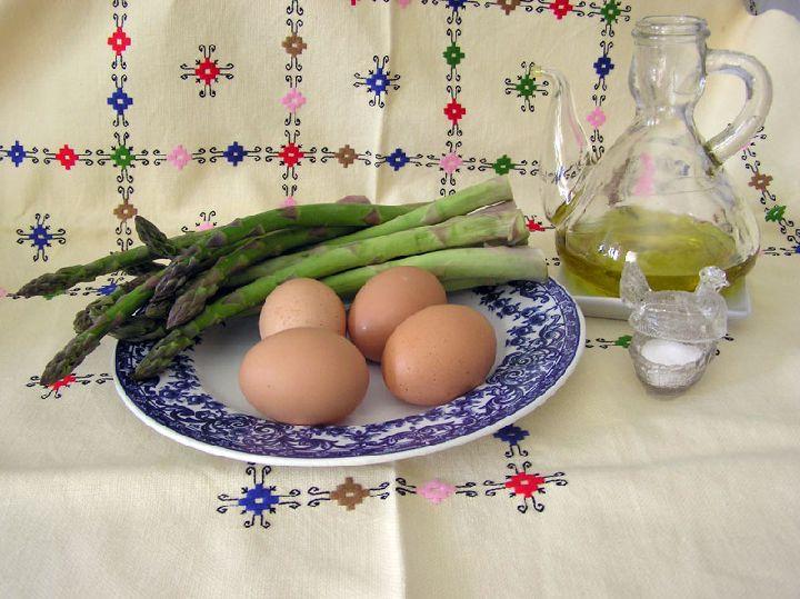 ingredients tortilla esparagos