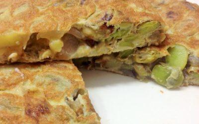 Recette de la tortilla de habas – Omelette aux fèves Espagnole